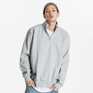 GSC215 HALF ZIP SWEATER GREY