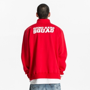 GSC215 HALF ZIP SWEATER RED